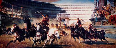 The Chariot Race 1882 Poster by Li   van Saathoff