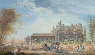 The Chateau De Madrid Poster by Louis-Nicolas de Lespinasse