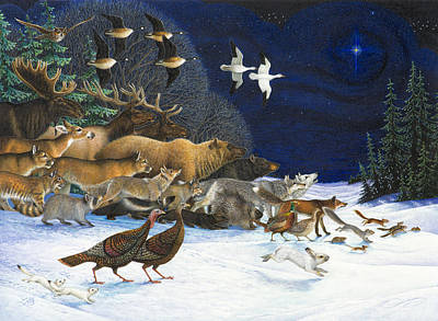 The Christmas Star Poster by Lynn Bywaters