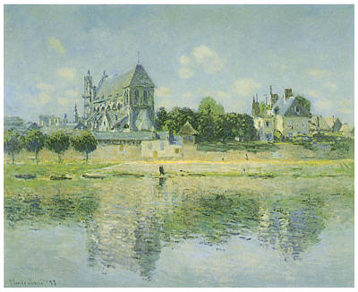 The Church At Vernon Poster by Claude Monet