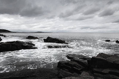 The Cloudy Day In Acadia National Park Maine Poster by Paul Ge