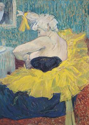 The Clowness Cha-u-kao In A Tutu Poster by Henri de Toulouse-Lautrec
