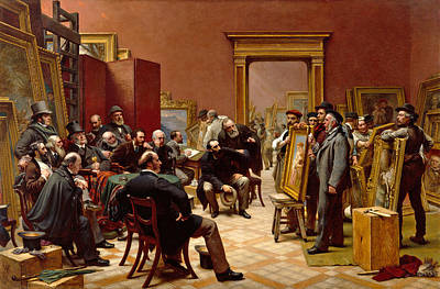 The Council Of The Royal Academy Selecting Pictures For The Exhibition Poster by Charles West Cope