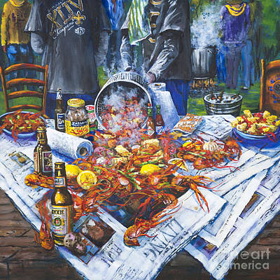 The Crawfish Boil Poster by Dianne Parks