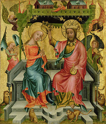 The Crowning Of The Virgin, From The Right Wing Of The Buxtehude Altar, 1400-10 Poster by Master Bertram of Minden