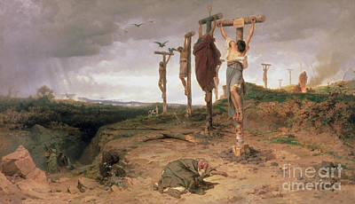 The Damned Field Execution Place In The Roman Empire Poster by Fedor Andreevich Bronnikov