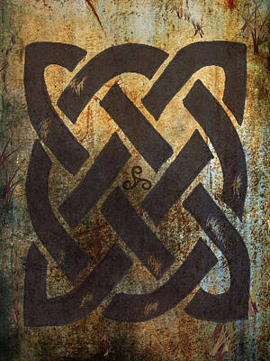 The Dara Celtic Symbol Poster by Kandy Hurley