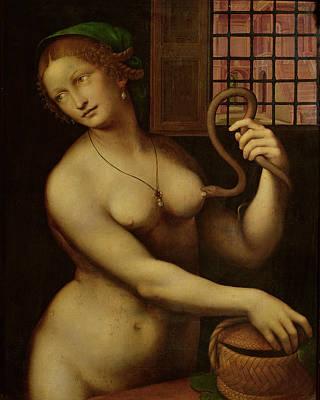 The Death Of Cleopatra Poster by Giovanni Pedrini Giampietrino