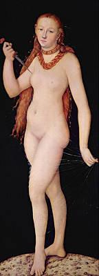 The Death Of Lucretia Poster by Lucas the elder Cranach