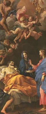 The Death Of Saint Joseph Poster by Carlo Maratta