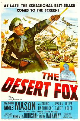 The Desert Fox, Aka The Desert Fox The Poster by Everett