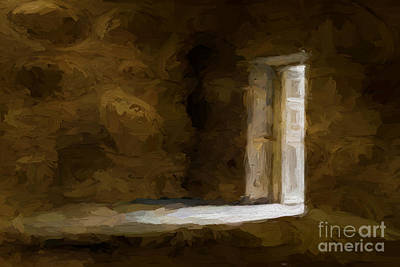 The Door Oil Painting On Canvas Poster by Heinz G Mielke