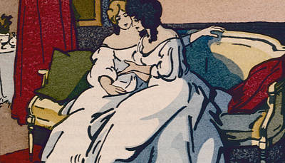 The Duchesse De Langeais Visiting The Vicomtesse De Beauseant Poster by Quint