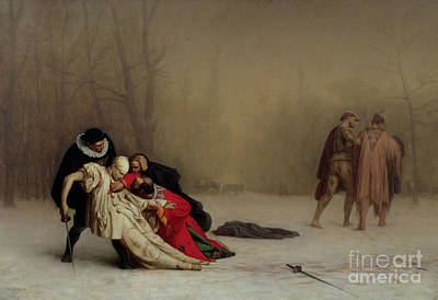 The Duel After The Masquerade Poster by Jean Leon Gerome