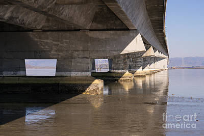 The Dumbarton Bridge In The South Bay Area California Dsc2454 Poster by Wingsdomain Art and Photography