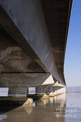 The Dumbarton Bridge In The South Bay Area California Dsc2458 Poster by Wingsdomain Art and Photography