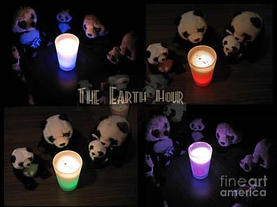 The Earth Hour In The Pandaland Poster by Ausra Huntington nee Paulauskaite