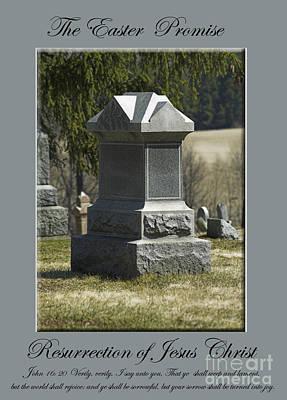 The Easter Promise Monument Card Poster by Andrew Govan Dantzler