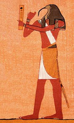 The Egyptian Deity Thoth Poster by Sheila Terry