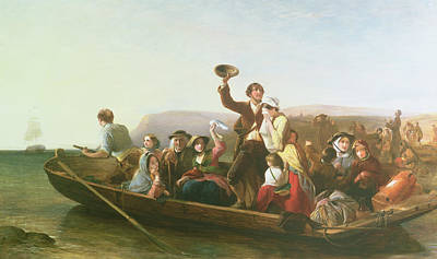 The Emigrants Poster by Thomas Falcon Marshall