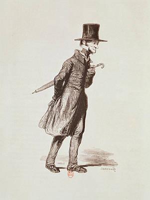 The Employee, From Les Francais Peints Par Eux-memes, Engraved By Guillaumot, Paris, C.1850 Poster by Paul Gavarni