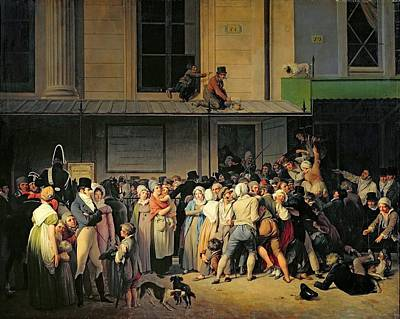 The Entrance To The Theatre Poster by Louis Leopold Boilly