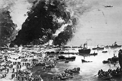 The Evacuation Of Dunkirk Poster by Underwood Archives
