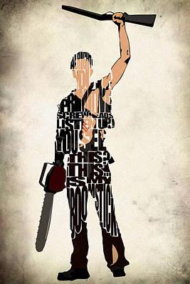The Evil Dead - Bruce Campbell Poster by Ayse Deniz