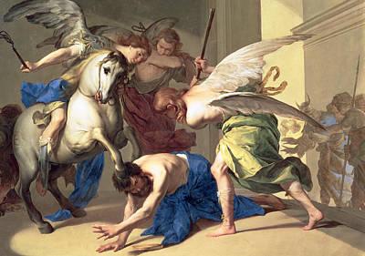 The Expulsion Of Heliodorus From The Temple Poster by Bernardo Cavallino