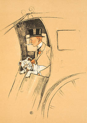 The Extra Passenger Poster by Cecil Charles Windsor Aldin