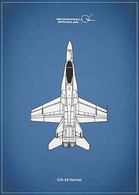 The F-18 Hornet Poster by Mark Rogan