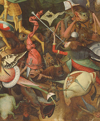 The Fall Of The Rebel Angels, 1562 Oil On Panel Detail Of 74037 Poster by Pieter the Elder Bruegel
