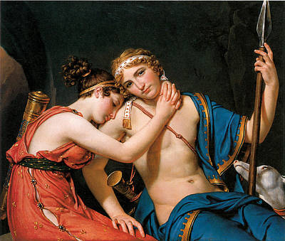 The Farewell Of Telemachus And Eucharis Poster by Jacques-Louis David