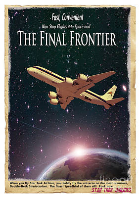 The Final Frontier Poster by Juli Scalzi