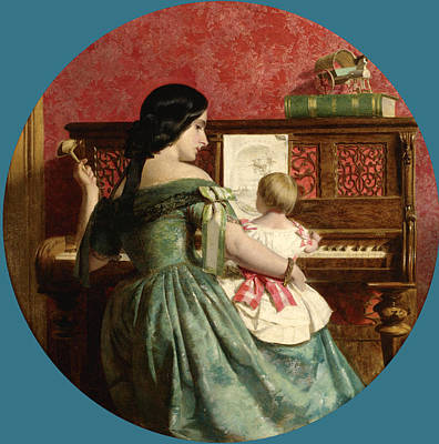The First Piano Lesson Poster by Charles West Cope