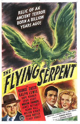 The Flying Serpent, Us Poster Poster by Everett