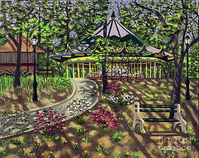 The Forest Park Carousel Poster by Madeline  Lovallo