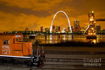 The Ftrl Railway With St Louis In The Background Poster by Garry McMichael