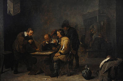 The Gamblers, C. 1640, By David Teniers The Younger 1610-1690 Poster by Bridgeman Images