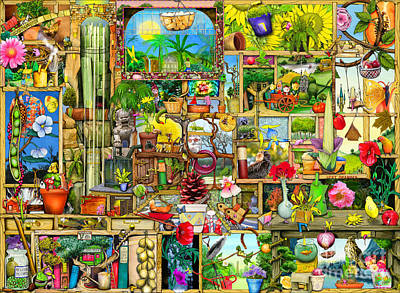 The Garden Cupboard Poster by Colin Thompson