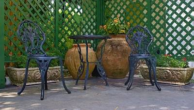 The Garden Veranda Poster by Chrystyne Novack