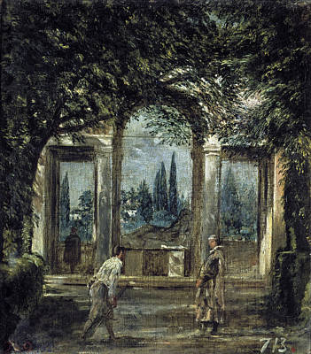 The Gardens Of The Villa Medici In Rome Poster by Diego Velazquez