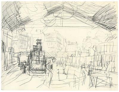 The Gare Saint-lazare Suburban Lines Poster by Claude Monet