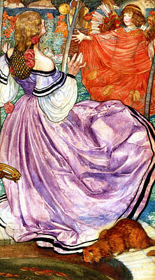 The Gilded Apple Poster by Eleanor Fortescue Brickdale