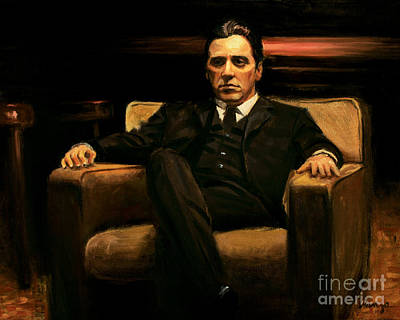 The Godfather Poster by Christopher Panza