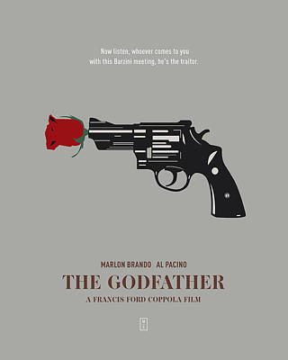 The Godfather Poster by Smile In The  Mind