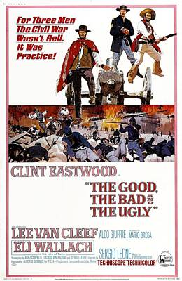 The Good The Bad And The Ugly  Poster by Georgia Fowler