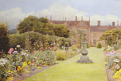 The Grass Walk, Helmingham Hall, 1892 Poster by Henry Terry