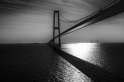 The Great Belt Bridge Poster by Erik Brede