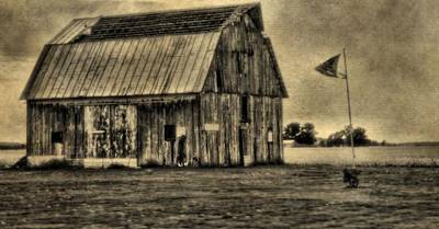 The Great Depression Barn Poster by Dan Sproul